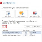 Re-arrange files to convert with Soda PDF 6
