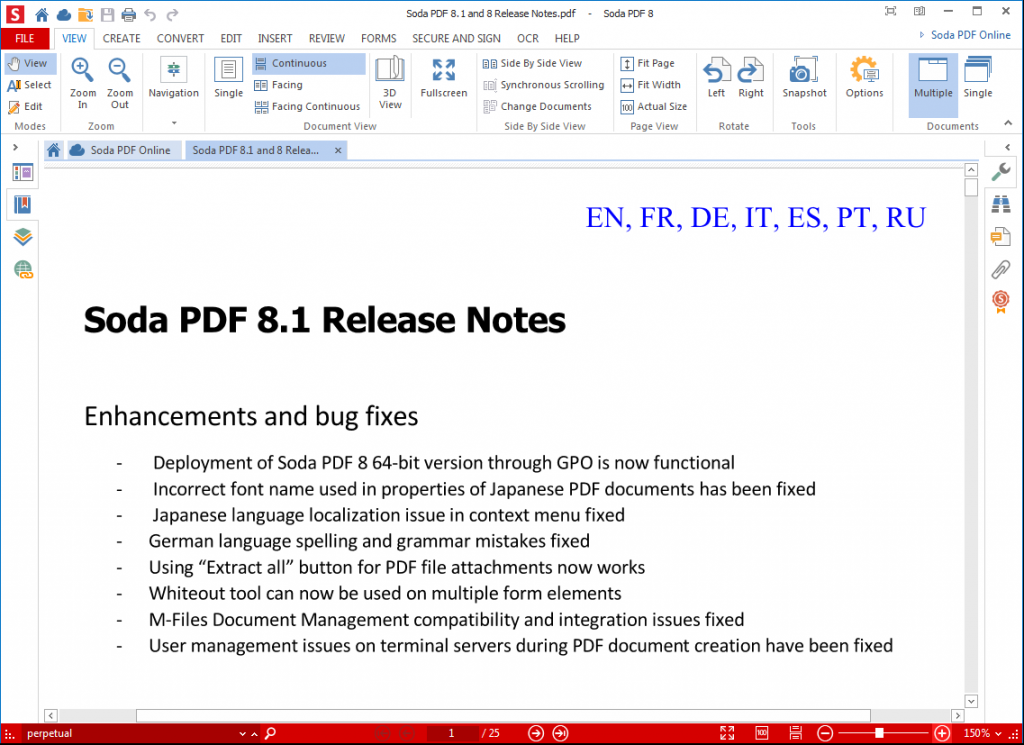 Soda PDF 8.1 Release Notes