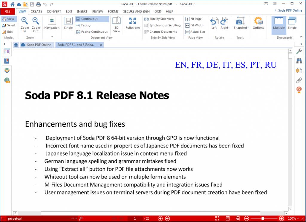 Soda PDF 8.1 Release Notes