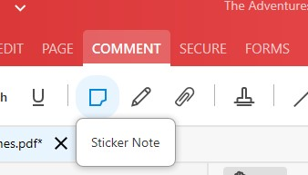 Comment Feature - Sticker Note tool - Soda PDF 12