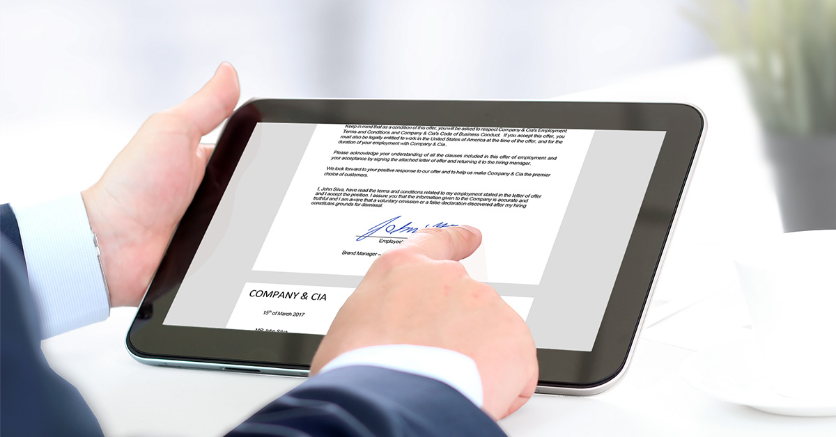 E-signature for HR: how to speed up the hiring process