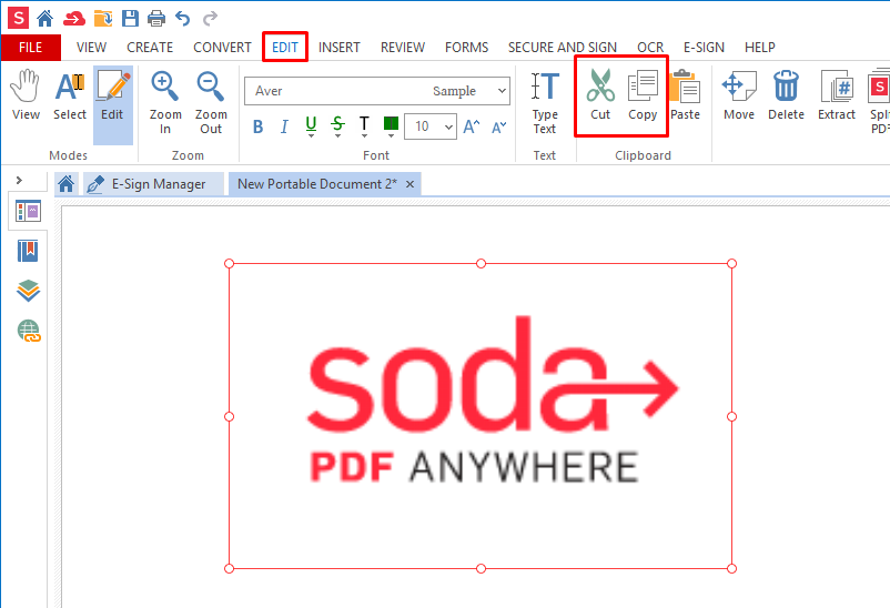 How to cut, copy and paste images in a PDF file | Soda PDF Blog