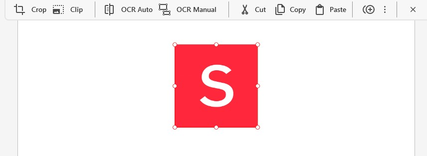Select Image - Mini-Toolbar Options - How To Cut Copy Paste Images in PDF - Soda PDF 12