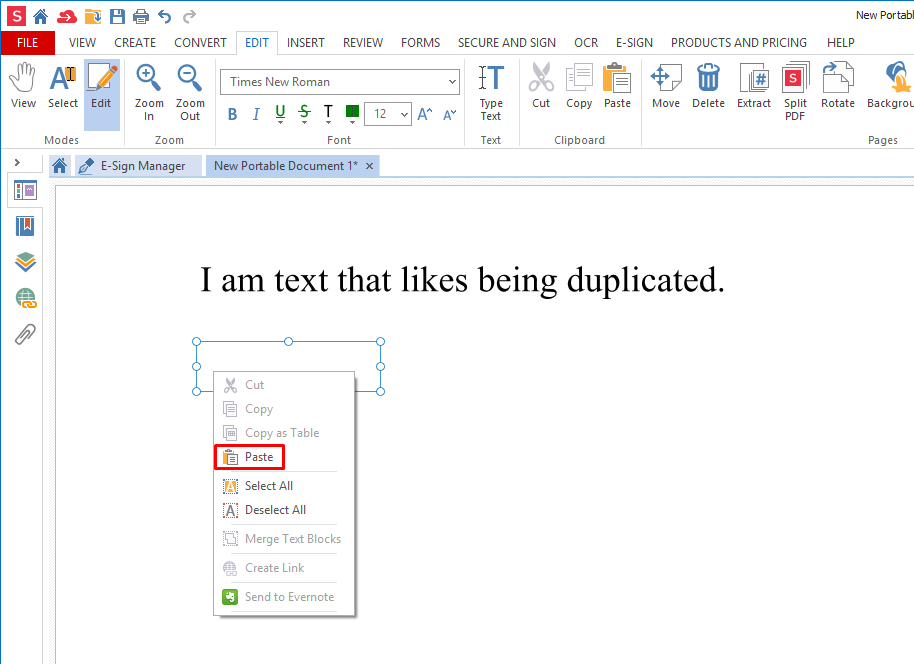 How to cut, copy and paste text in a PDF file | Soda PDF Blog