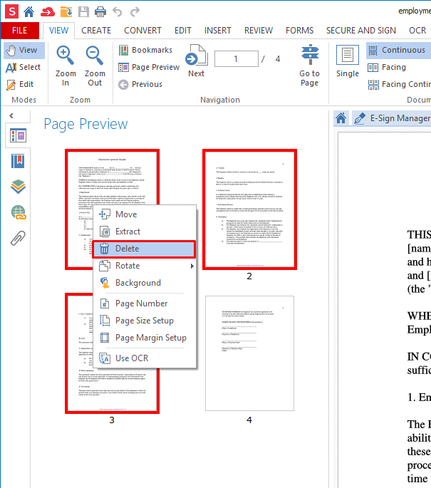 How to delete a page from a pdf file for Pdf document page delete
