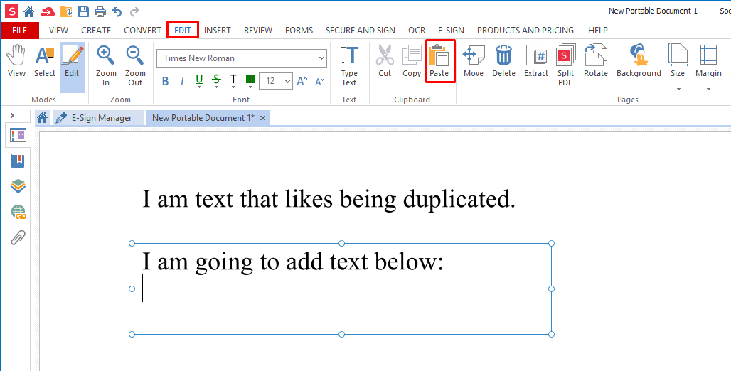 how to cut copy paste text pdf 5