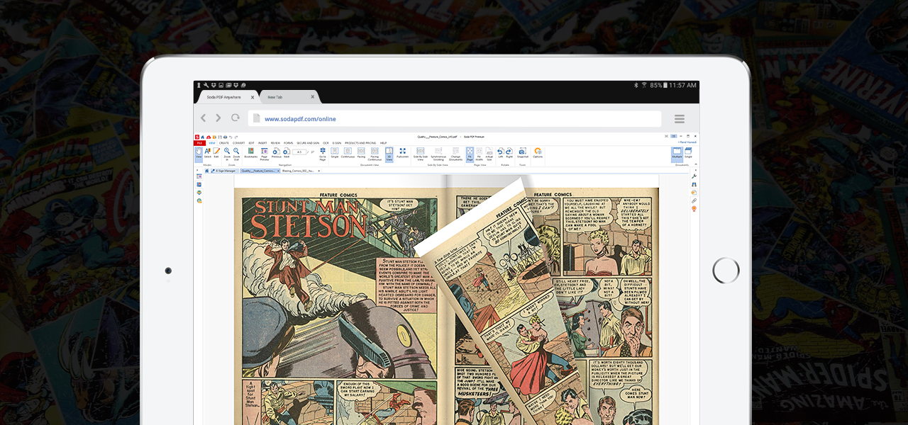 comic book reader for iPad - Soda PDF Comic Book Reader