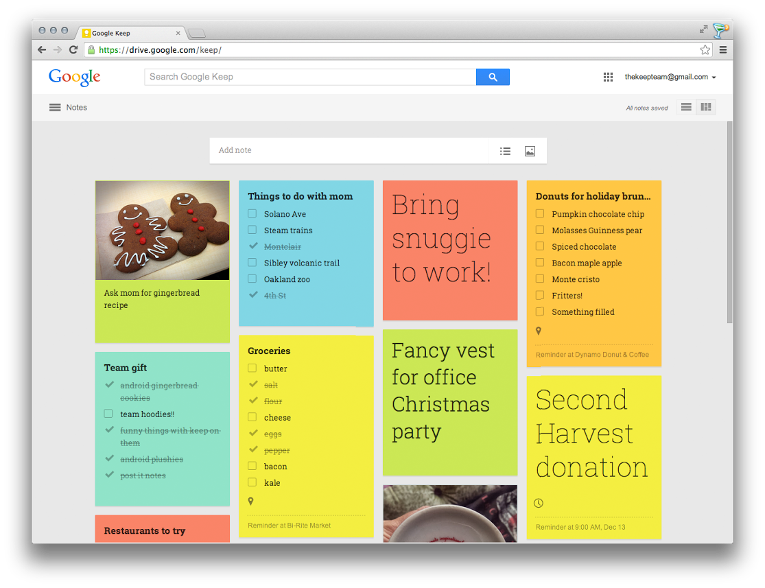online collaboration tools Google Keep
