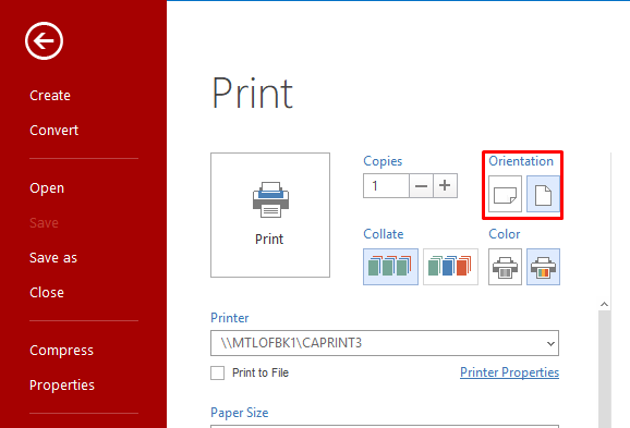 You Can Choose Whether To Print In Color Or Grayscale