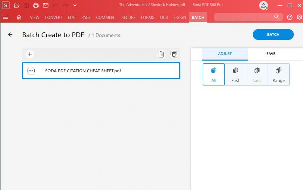 Batch Feature - Batch Create - Create - Batch Create to PDF - Soda PDF 12