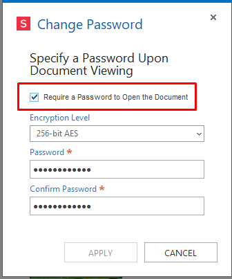 document management add password