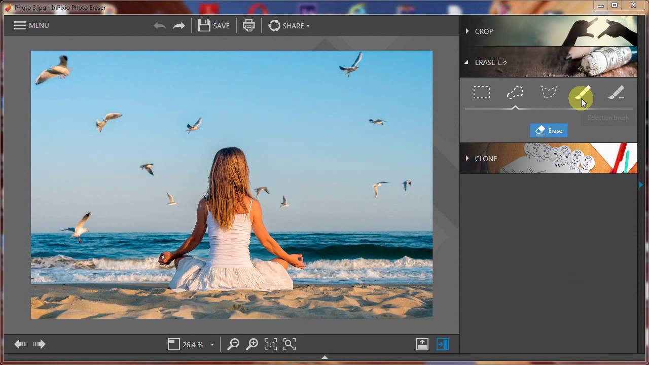 best free photo editing software - inPixio