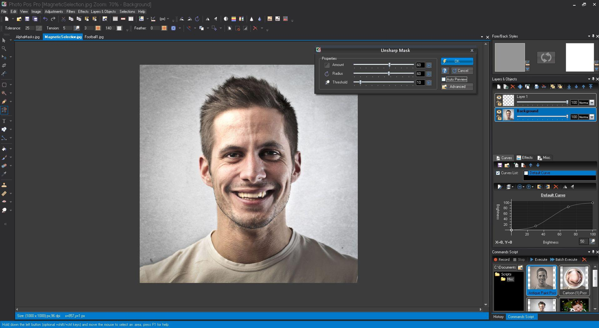 best free photo editing software - photo pos pro