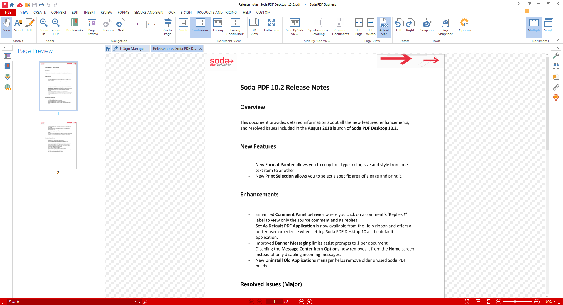 Soda PDF 10.2 Release Notes