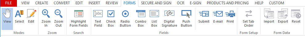 pdf features forms