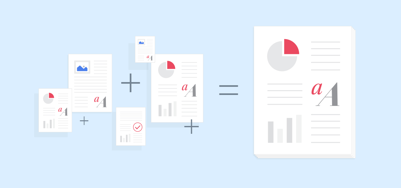 pdf features merge