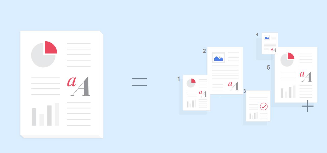 pdf features split