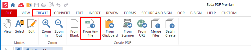 Create From Any File How to make your documents GDPR Compliant