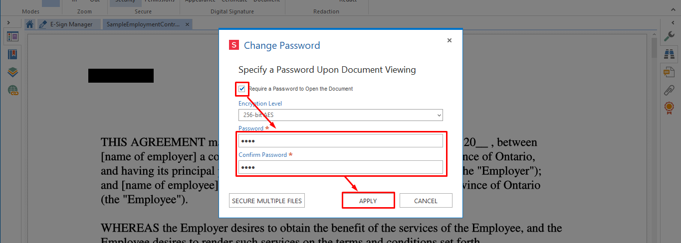 enter password how to make your documents gdpr compliant