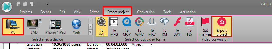 more export settings how to make a tutorial video