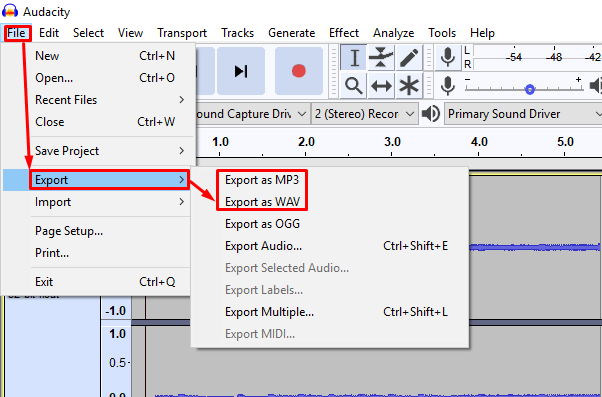 export audio how to make a tutorial video