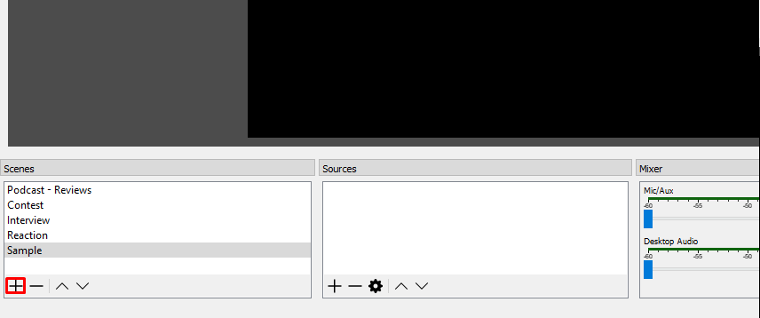 add scene in OBS how to make tutorial video