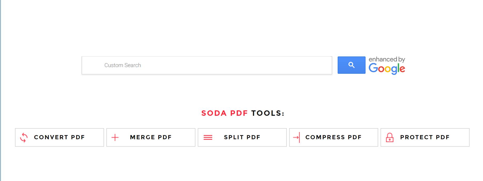 Soda PDF Google Chrome Extension home