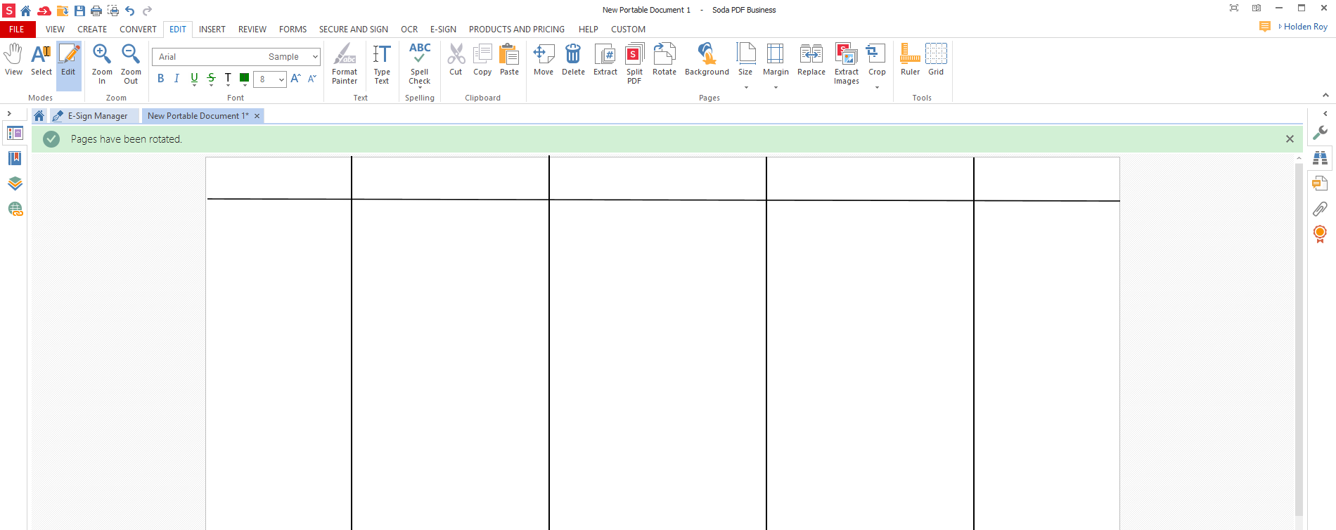 lines added to PDF make storyboard templates