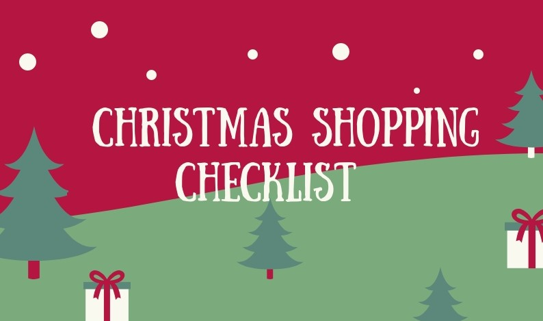 Holiday Shopping Checklist picture