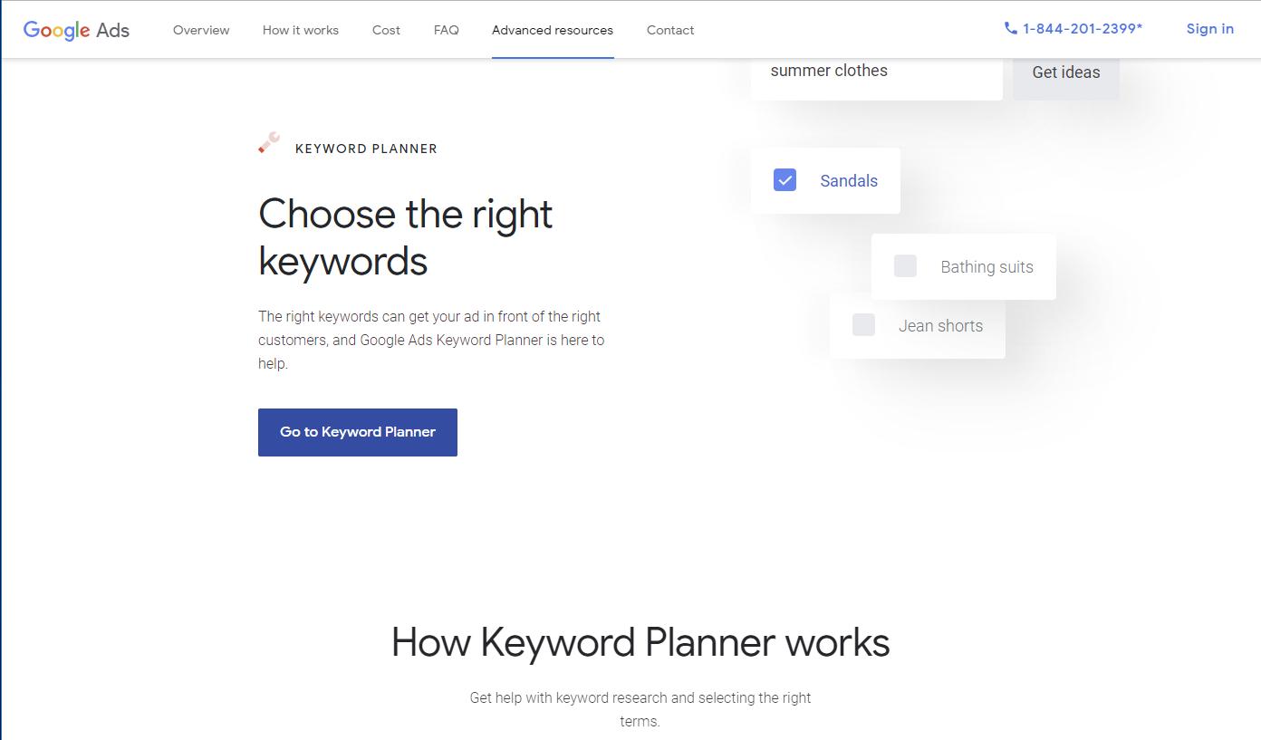Free SEO Tools Google Keyword Planner