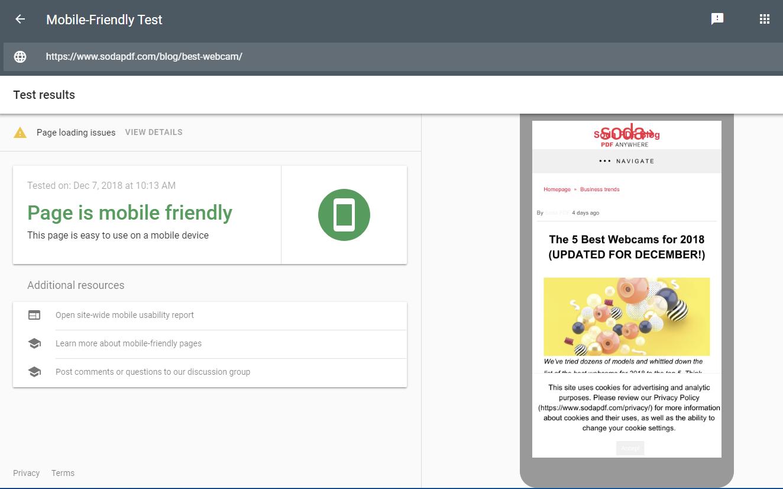 Free SEO Tools Google Mobile-Friendly Test