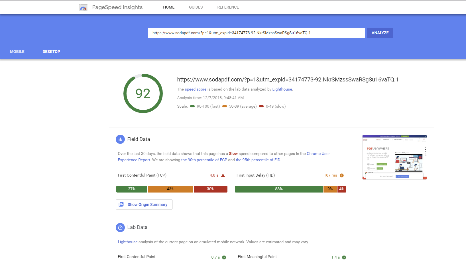 Free SEO Tools Google PageSpeed Insights