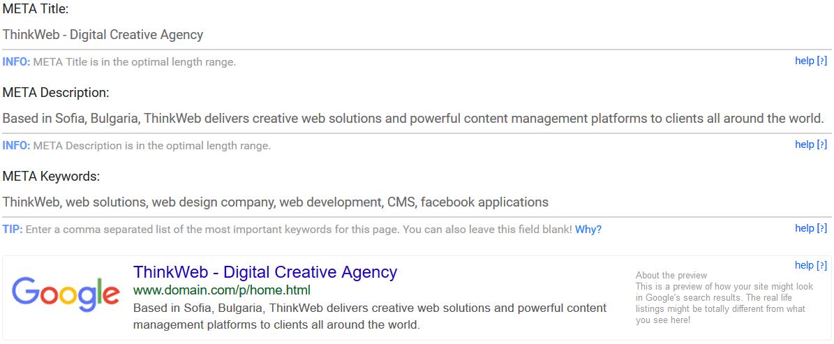Free SEO Tools Google SERP Preview Tool
