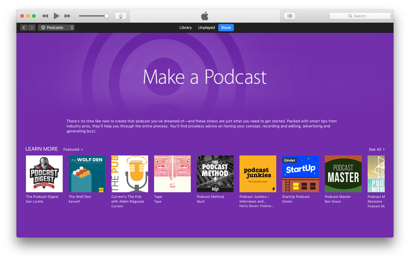 publishing audio podcasts - itunes