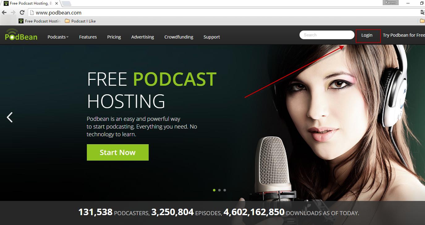 publishing audio podcasts - podbean