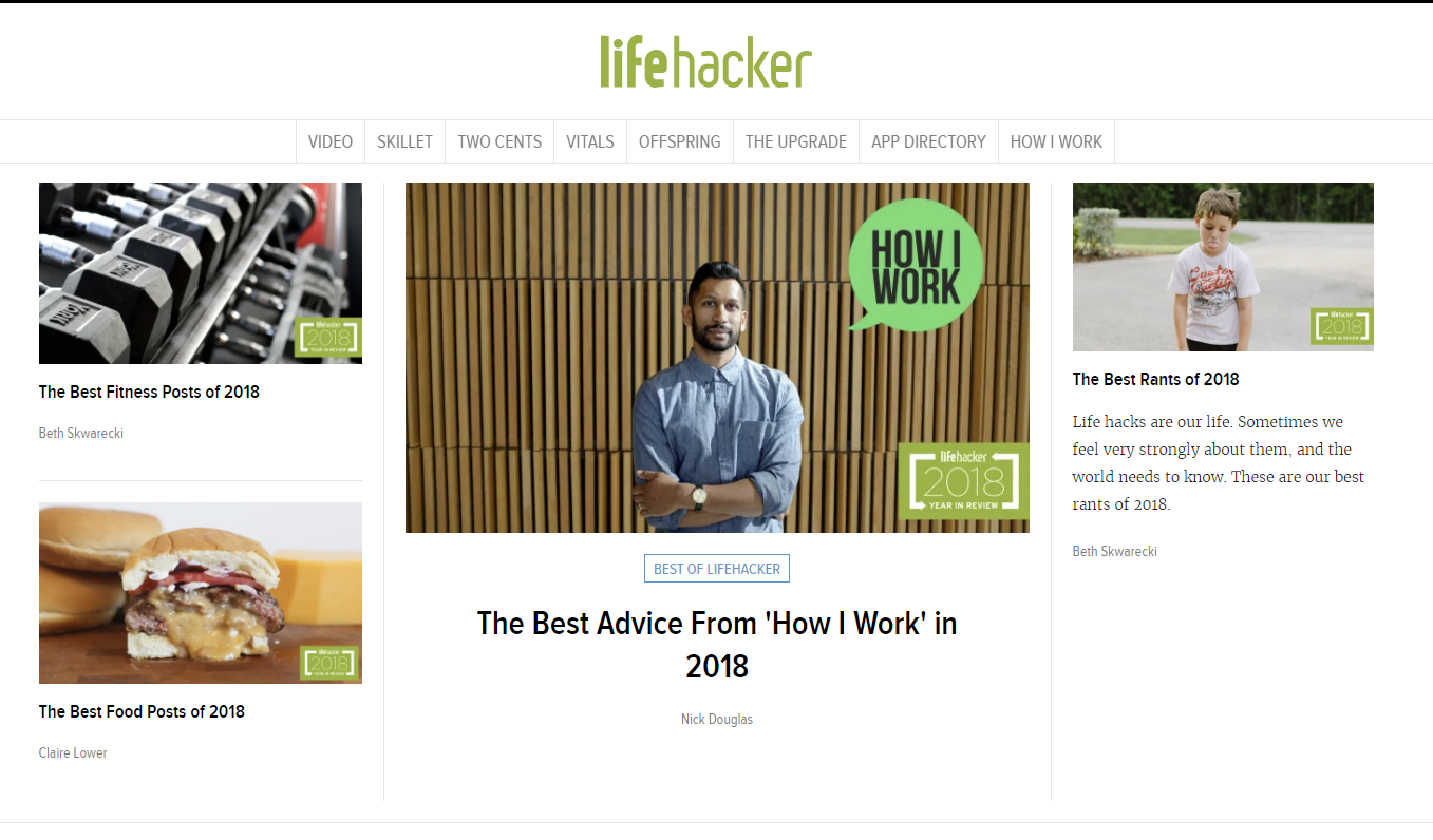 tech websites - lifehacker