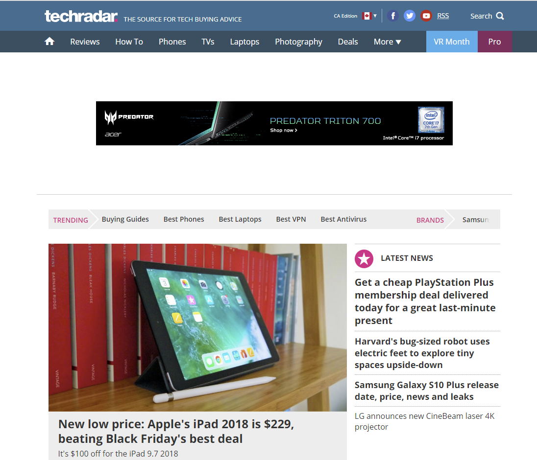 tech websites - techradar