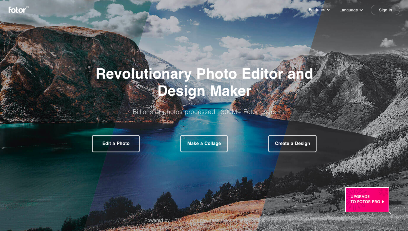 Fotor intro free photo editor
