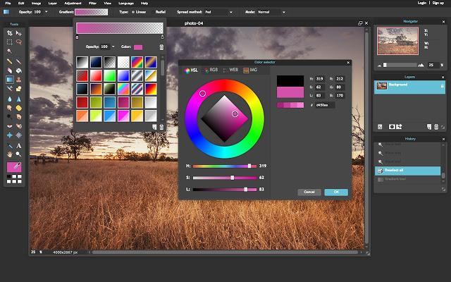 pixlr colors free photo editor