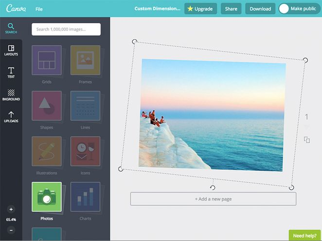 Canva flip image free photo editors