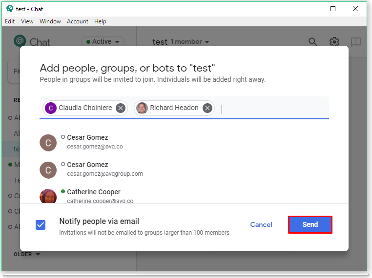 invite people to room how to use g suite for success
