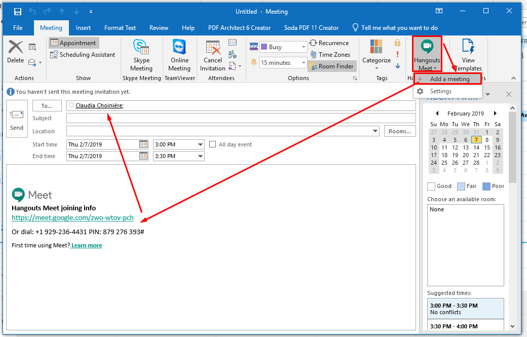 add meeting link to outlook how to use g suite for success