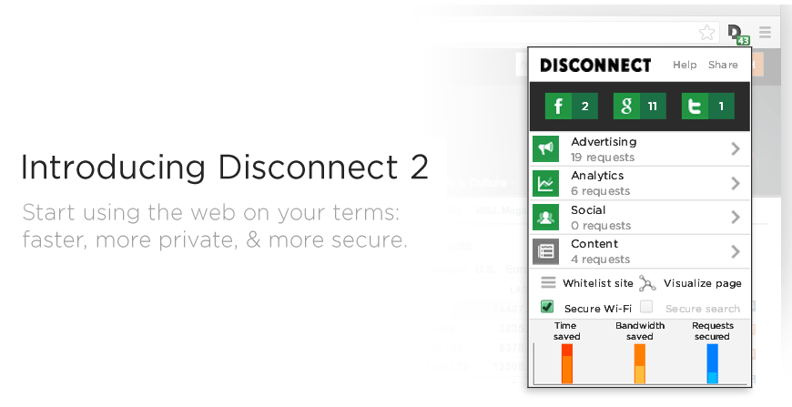 Disconnect 10 best mozilla firefox plugins