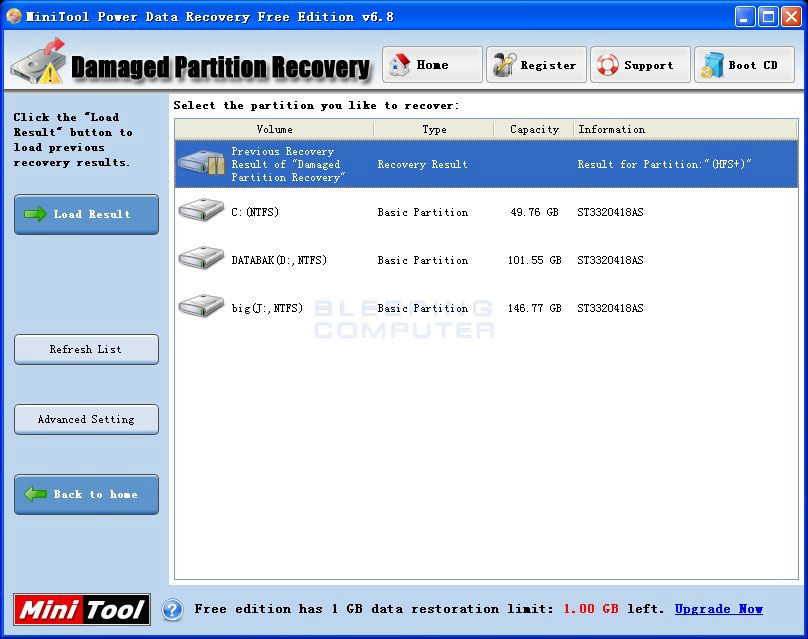 MiniTool Power Data Recovery 5 free data recovery software