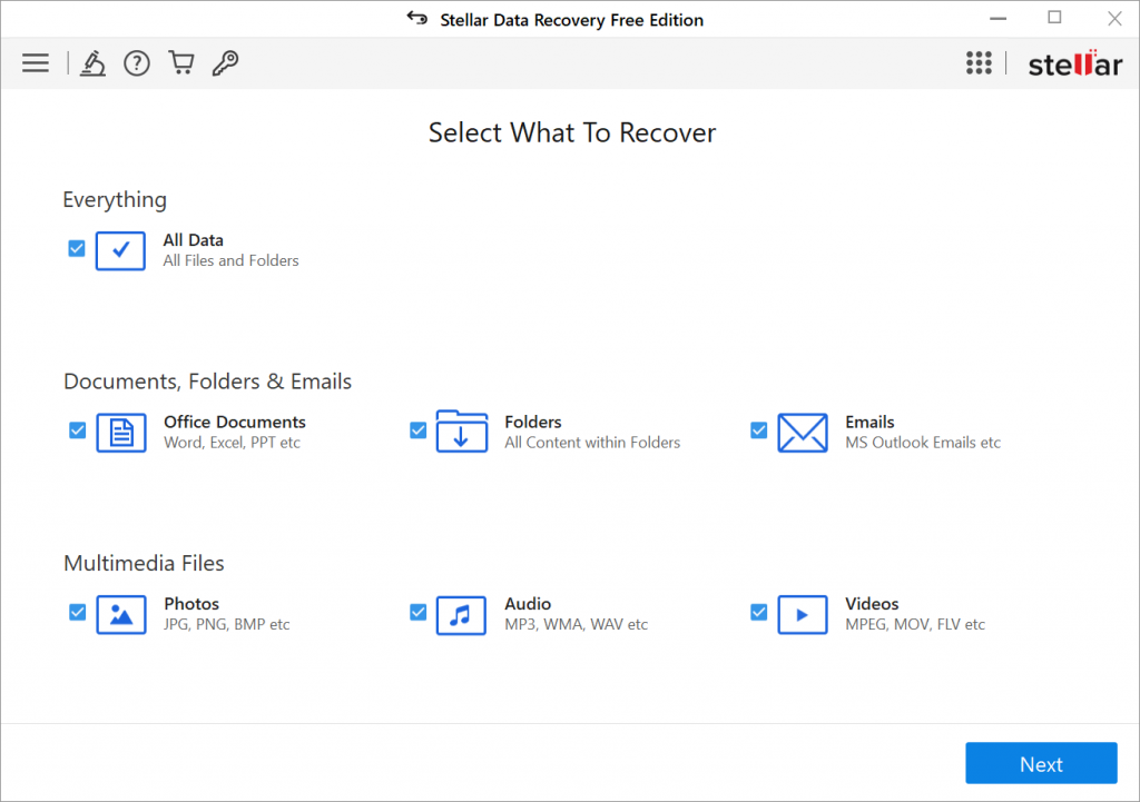 Stellar Data Recovery Free Edition - Select What To Recover - Soda PDF Blog