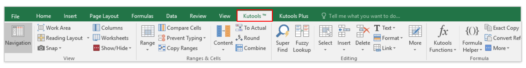 Kutools 7 useful excel add-ins