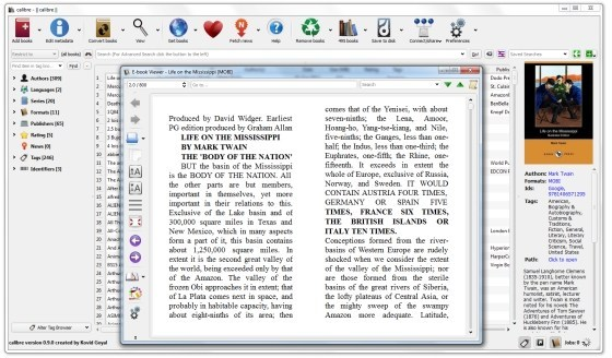 Calibre free ebook reader