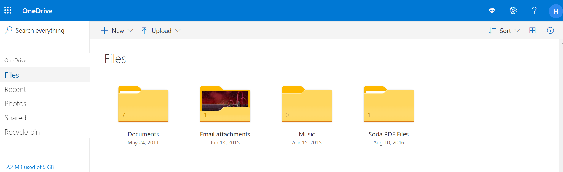 OneDrive File Sharing Services
