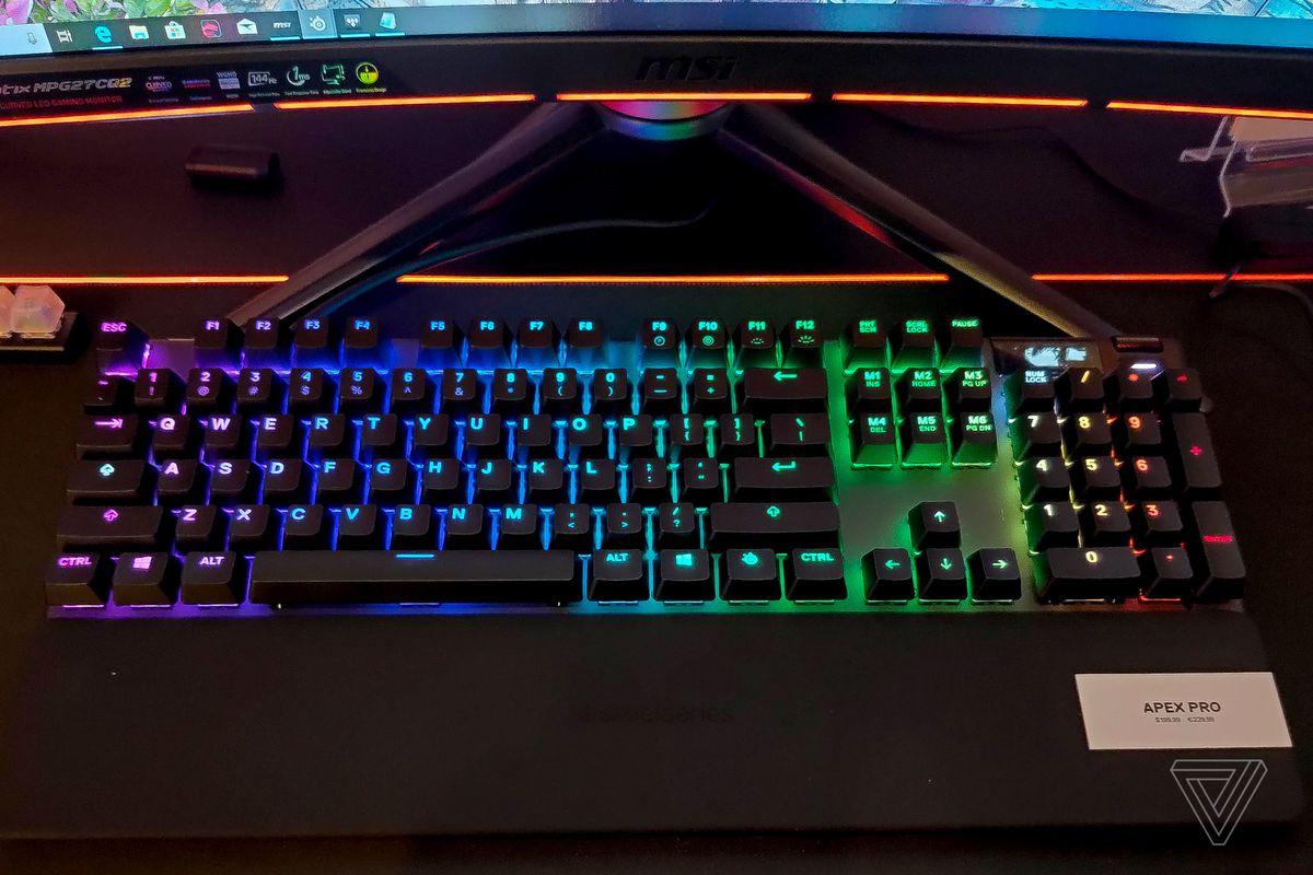 steelseries apex pro best mechanical keyboards