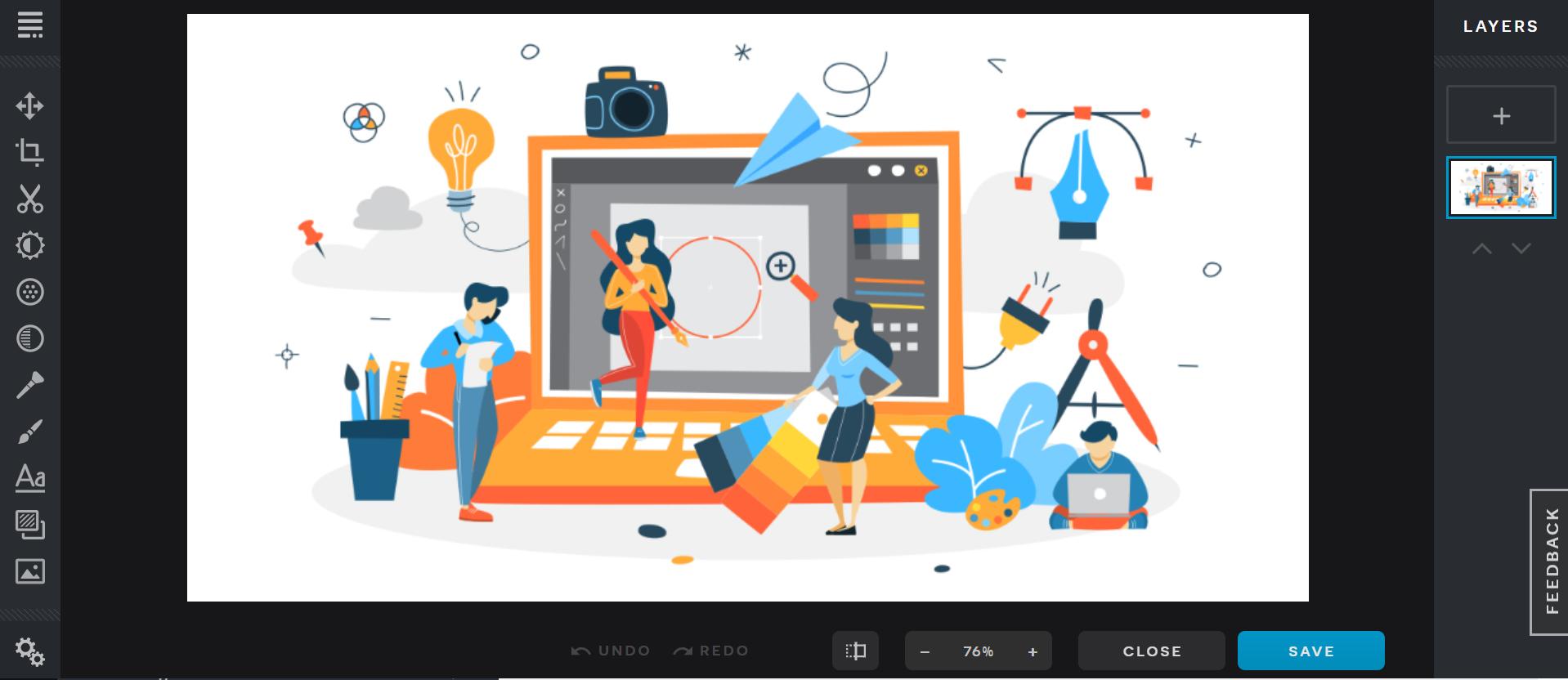 pixlr graphic design software